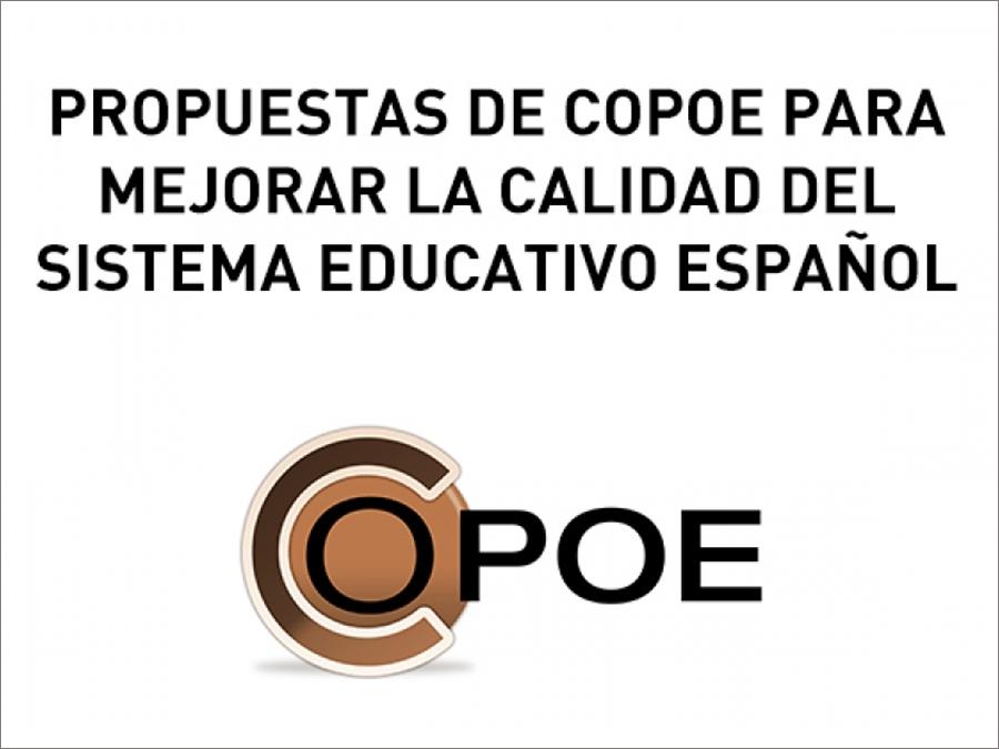 Propuestas de COPOE para mejorar la calidad del Sistema Educativo español. Curso 2019-20